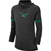 Nike Women's Philadelphia Eagles History Black Funnel Pullover