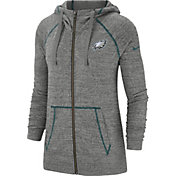 Nike Women's Philadelphia Eagles Vintage Grey Full-Zip Hoodie