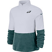Nike Women's Philadelphia Eagles Therma-FIT Fleece Half-Zip Pullover
