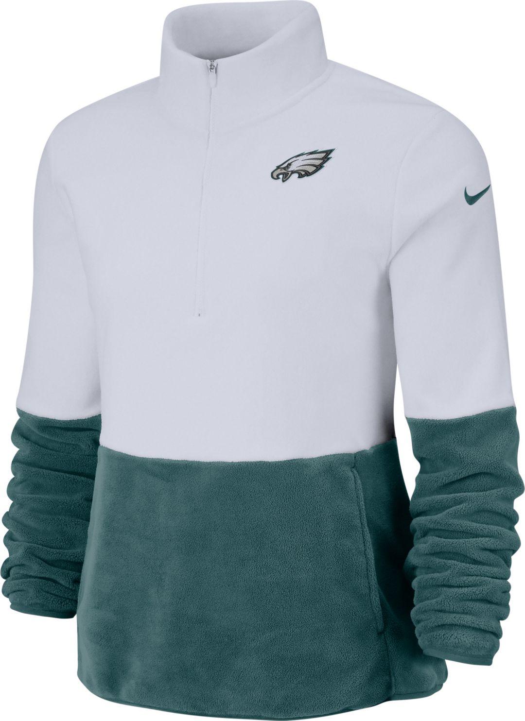 online retailer 37f1c 461ab Nike Women's Philadelphia Eagles Therma-FIT Fleece Half-Zip ...