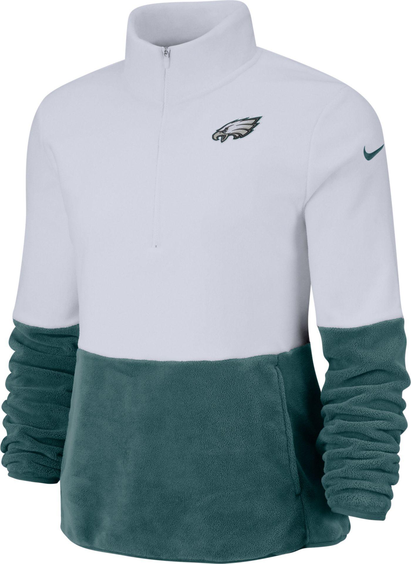 Nike Women's Philadelphia Eagles Therma-FIT Fleece Half-Zip Pullover