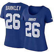 Saquon Barkley #26 Nike Women's New York Giants Pride Blue T-Shirt