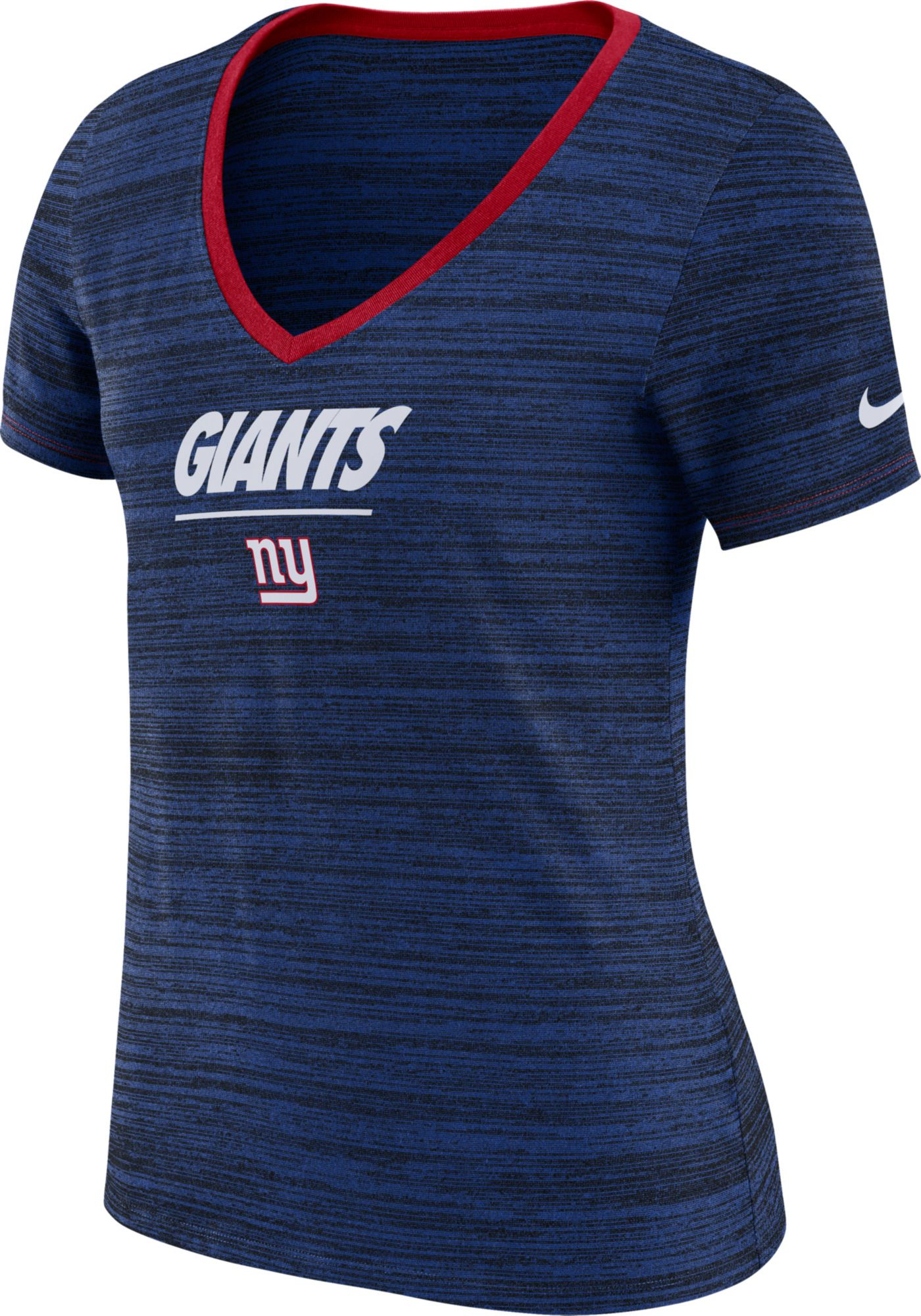 Nike Women's New York Giants Legend Velocity Performance Blue T-Shirt