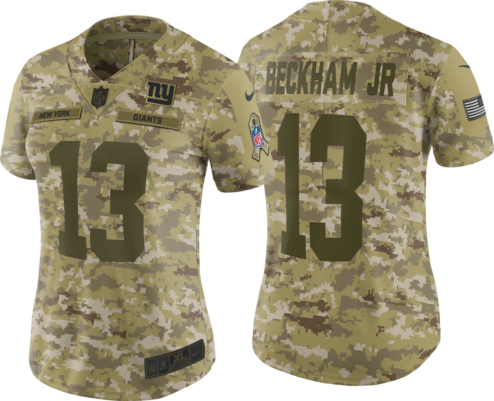cb4fe9094 ... netherlands nike womens salute to service new york giants odell beckham  jr. 13 camouflage limited