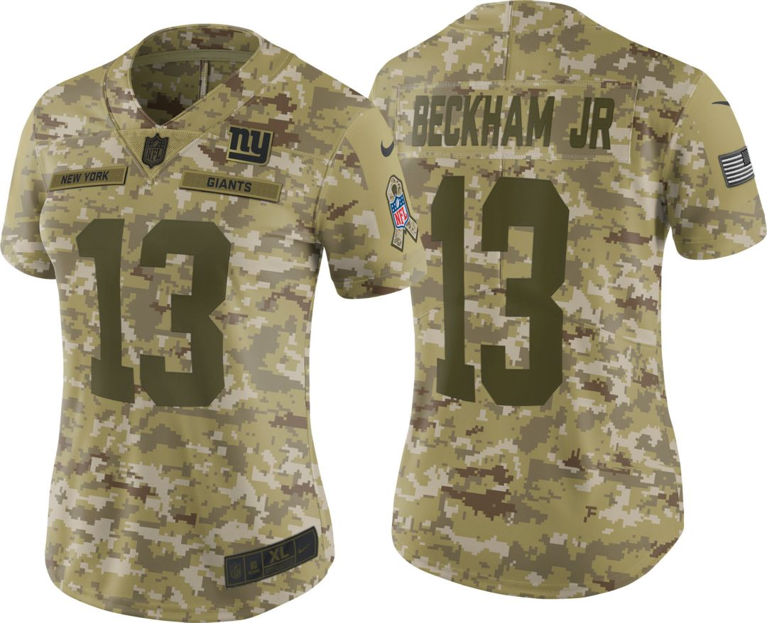 81b473734cf5 Nike Women's Salute to Service New York Giants Odell Beckham Jr. #13  Limited Camouflage