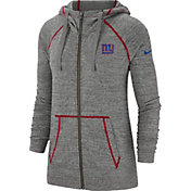 Nike Women's New York Giants Vintage Grey Full-Zip Hoodie