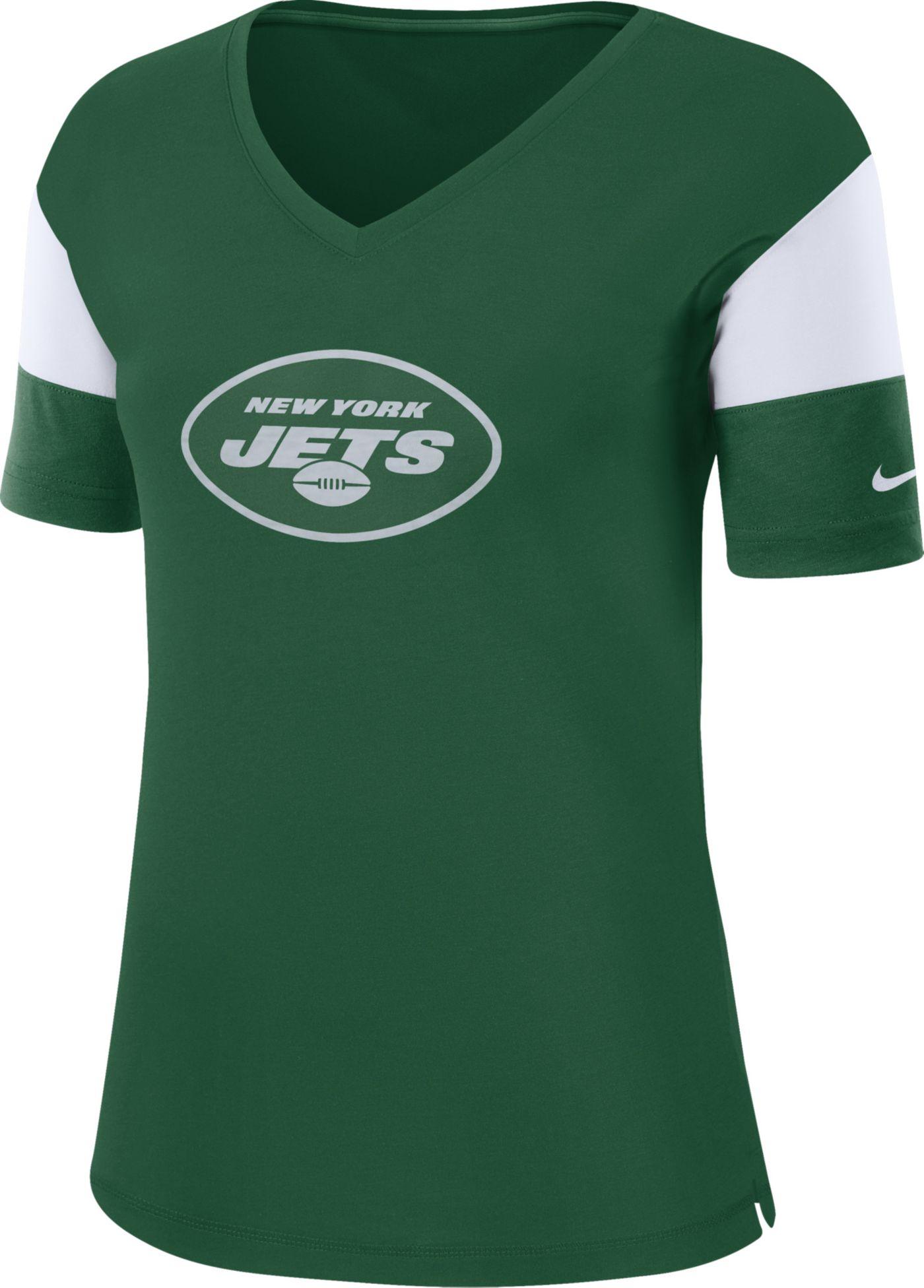 Nike Women's New York Jets Breathe Green V-Neck T-Shirt
