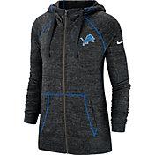 Nike Women's Detroit Lions Vintage Black Full-Zip Hoodie