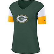 Nike Women's Green Bay Packers Breathe Green V-Neck T-Shirt