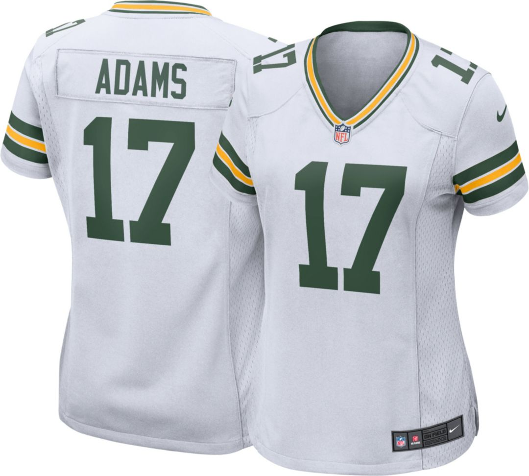 save off b071b 8ab90 Nike Women's Away Game Jersey Green Bay Packers Davante Adams #17