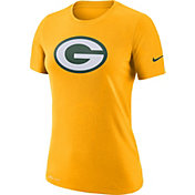 Nike Women's Green Bay Packers Logo Dri-FIT Performance Gold T-Shirt