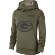 Nike Women's Salute to Service Green Bay Packers Therma-FIT Performance Hoodie