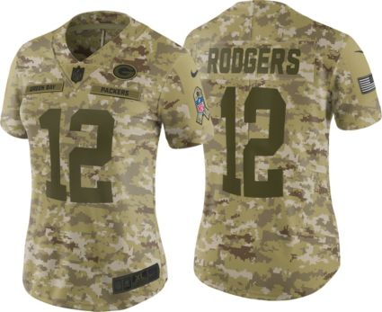 Nike Women s Salute to Service Green Bay Packers Aaron Rodgers  12 Camouflage  Limited Jersey. noImageFound c91ff69f1