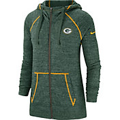 Nike Women's Green Bay Packers Vintage Green Full-Zip Hoodie