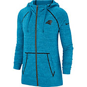 Nike Women's Carolina Panthers Vintage Blue Full-Zip Hoodie