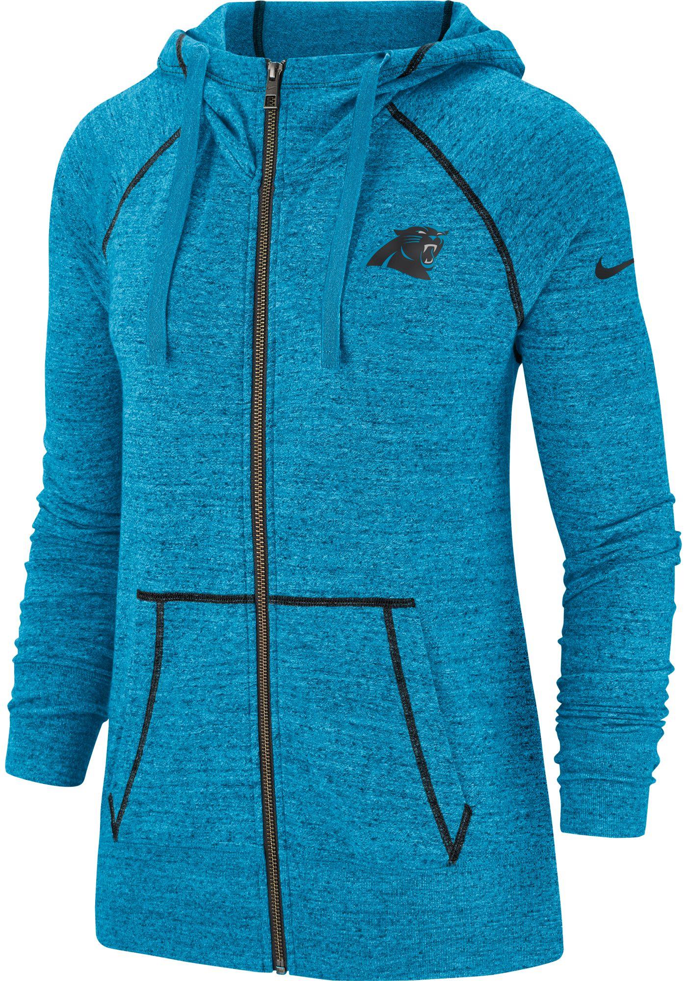 Nike Women's Carolina Panthers Vintage Blue Full-Zip Hoodie