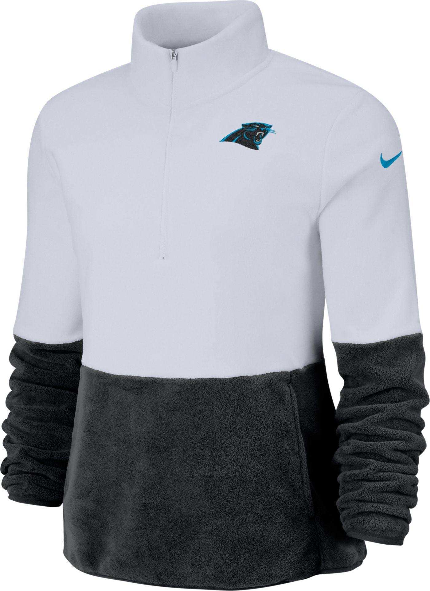 Nike Women's Carolina Panthers Therma-FIT Fleece Half-Zip Pullover