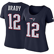 Nike Women's New England Patriots Tom Brady #12 Pride Logo Navy T-Shirt