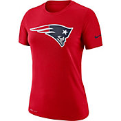 Nike Women's New England Patriots Logo Dri-FIT Performance Red T-Shirt