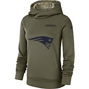 Nike Women's Salute to Service New England Patriots Therma-FIT Performance Hoodie