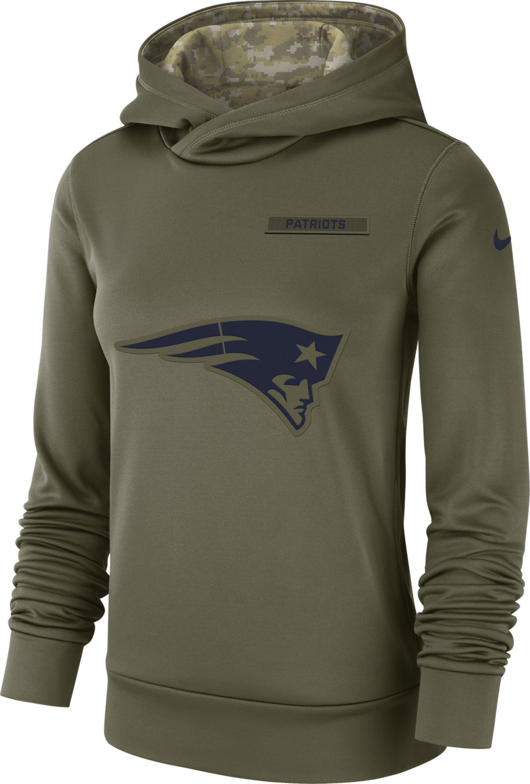 reputable site 1323f daa2b Nike Women s Salute to Service New England Patriots Therma-FIT Performance  Hoodie 1