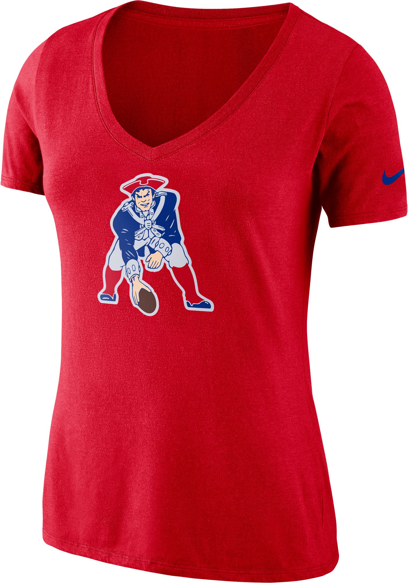 Nike Women's New England Patriots Tri-Blend Historic Red T-Shirt