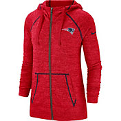 Nike Women's New England Patriots Vintage Red Full-Zip Hoodie