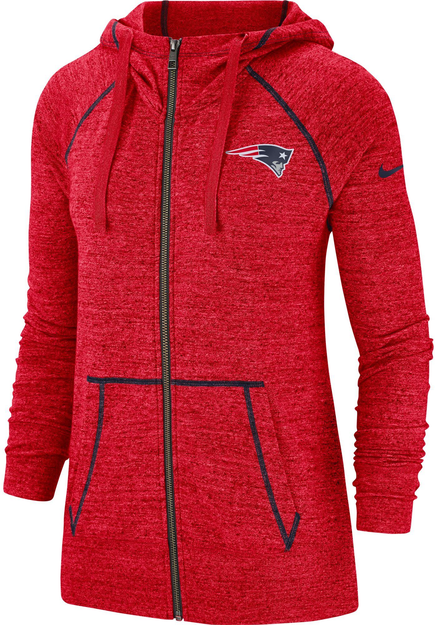 Nike Women's New England Patriots Vintage Red Full-Zip Hoodie
