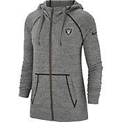 Nike Women's Oakland Raiders Vintage Grey Full-Zip Hoodie