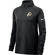 Nike Women's Washington Redskins Core Black Half-Zip Performance Pullover