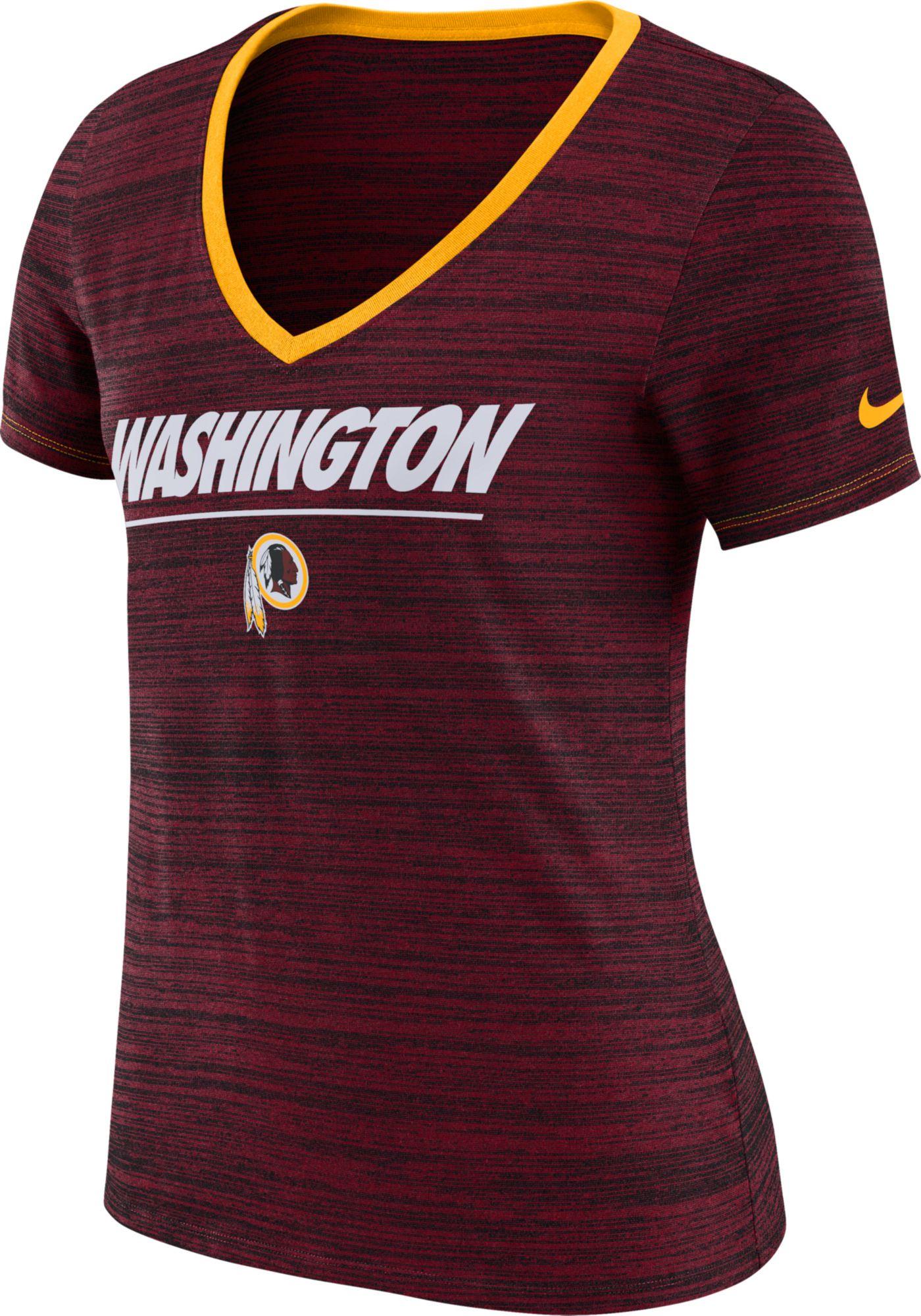 Nike Women's Washington Redskins Legend Velocity Performance Red T-Shirt