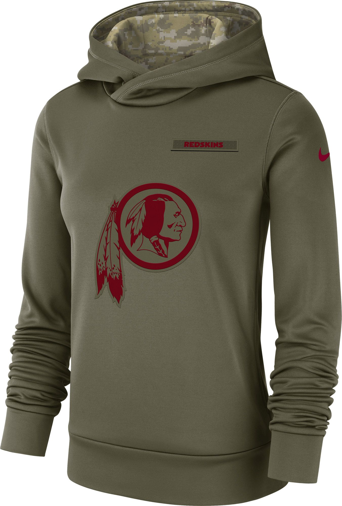 Washington Redskins 2018 Nike Olive Salute to Service Sideline Therma Fit Hoodie