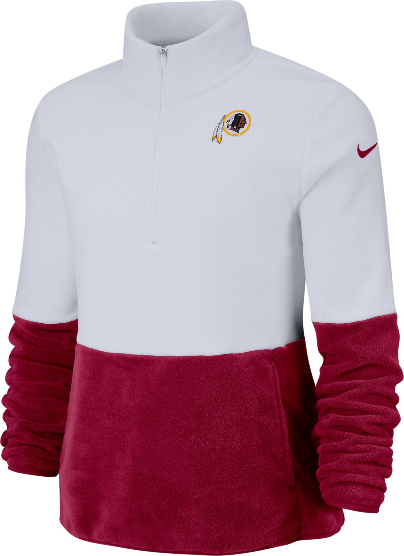 Nike Women's Washington Redskins Therma-FIT Fleece Half-Zip Pullover