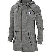 Nike Men's Los Angeles Rams Vintage Grey Full-Zip Hoodie