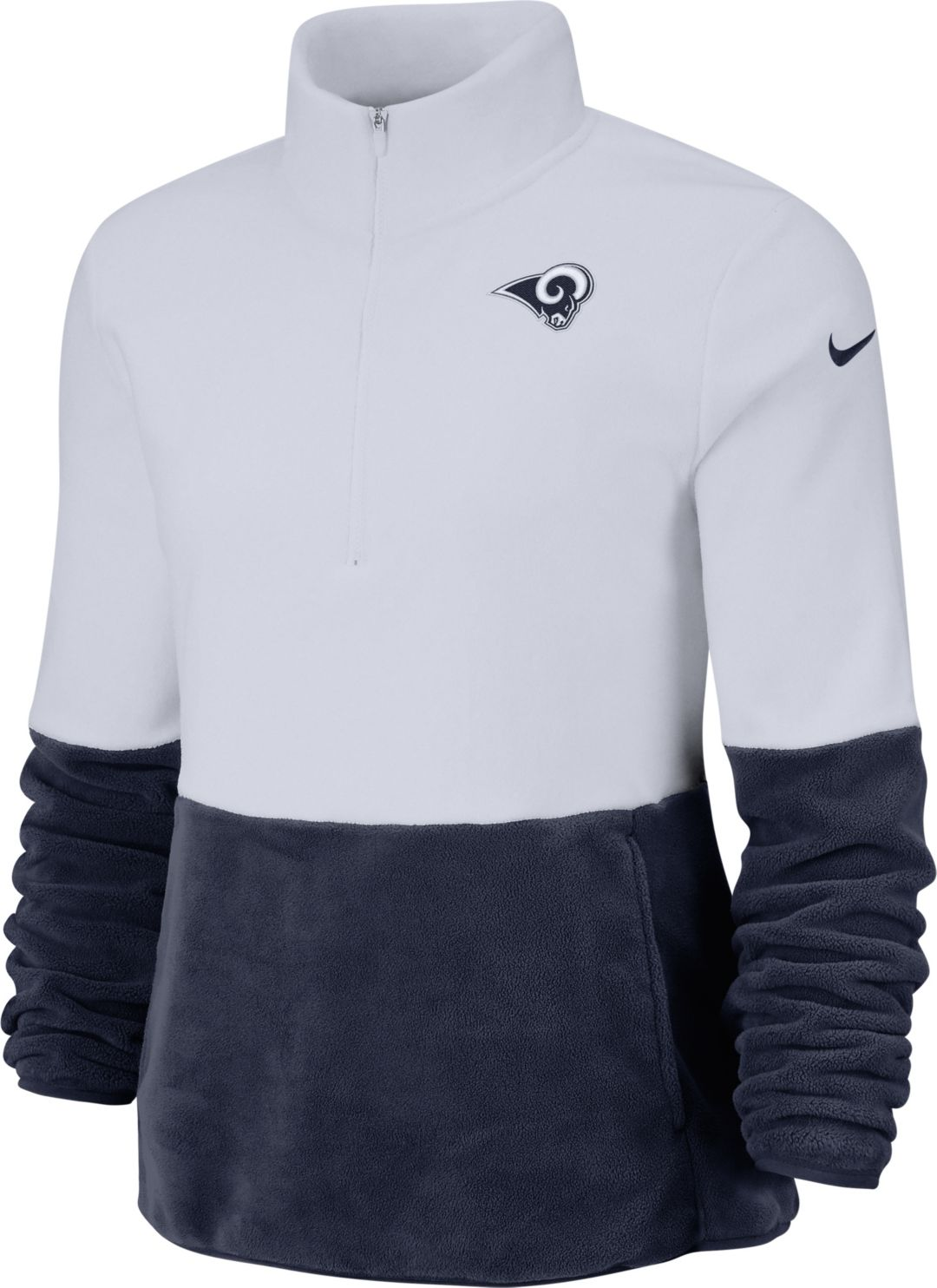 timeless design 733f3 25bfa Nike Women's Los Angeles Rams Therma-FIT Fleece Half-Zip ...