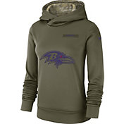 Nike Women's Salute to Service Baltimore Ravens Therma-FIT Performance Hoodie