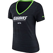 Nike Women's Seattle Seahawks Legend Velocity Performance Navy T-Shirt
