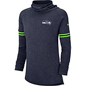 Nike Women's Seattle Seahawks History Navy Funnel Pullover