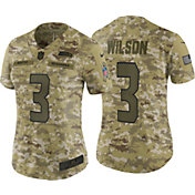 9dab95dcc Nike Women s Salute to Service Seattle Seahawks Russell Wilson  3 Camouflage  Limited Jersey