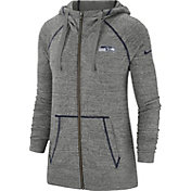 Nike Women's Seattle Seahawks Vintage Grey Full-Zip Hoodie