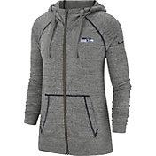 Nike Women's Seattle Seahawks Vintage Grey Full-Zip Hoodie