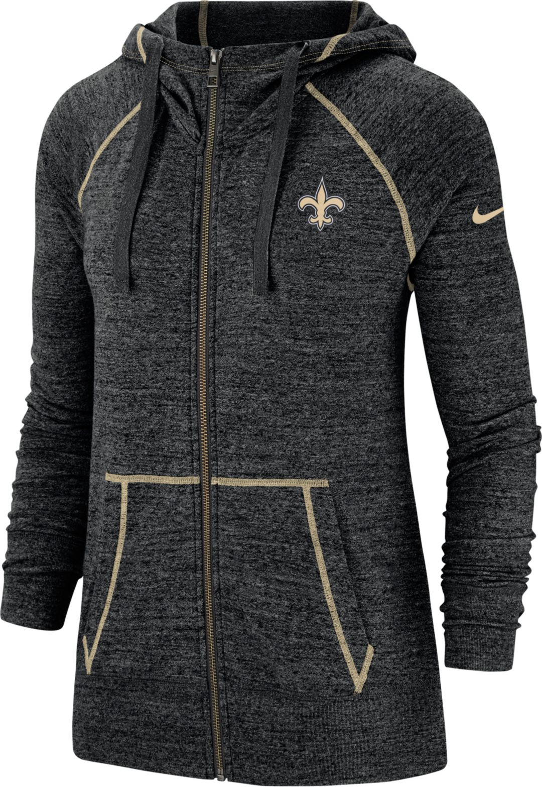 premium selection b24bc 8aeab Nike Women's New Orleans Saints Vintage Black Full-Zip Hoodie