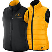 Nike Women's Pittsburgh Steelers Sideline Reversible Gold Shield Vest 2.0