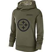 Nike Women's Salute to Service Pittsburgh Steelers Therma-FIT Performance Hoodie