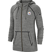 Nike Men's Pittsburgh Steelers Vintage Grey Full-Zip Hoodie
