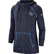 Nike Women's Tennessee Titans Vintage Full-Zip Navy Hoodie