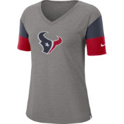 Nike Women's Houston Texans Breathe Heather Grey V-Neck T-Shirt