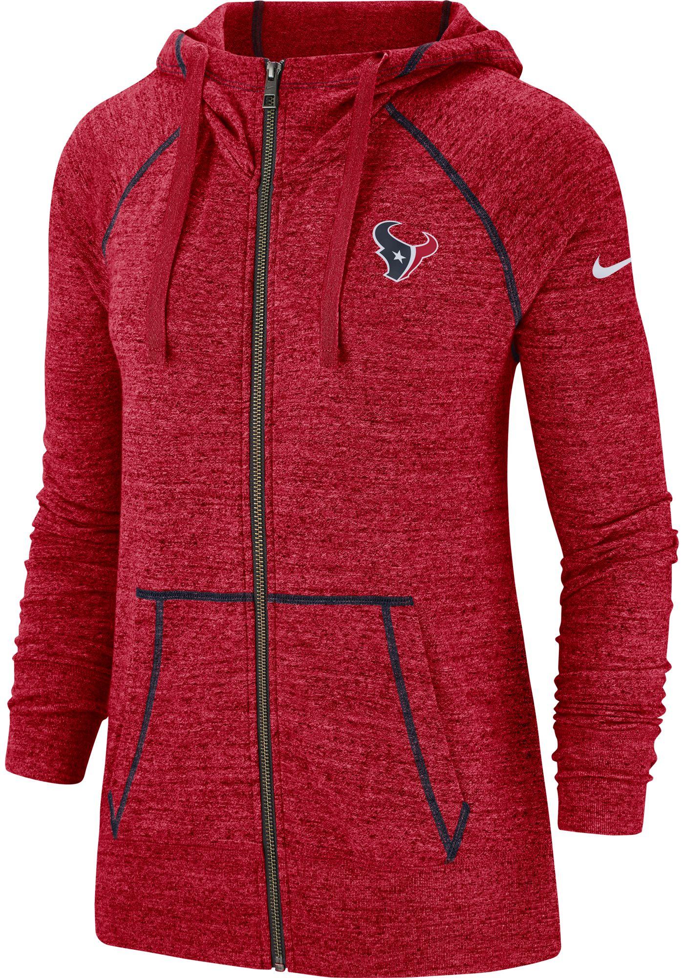 Nike Men's Houston Texans Vintage Red Full-Zip Hoodie