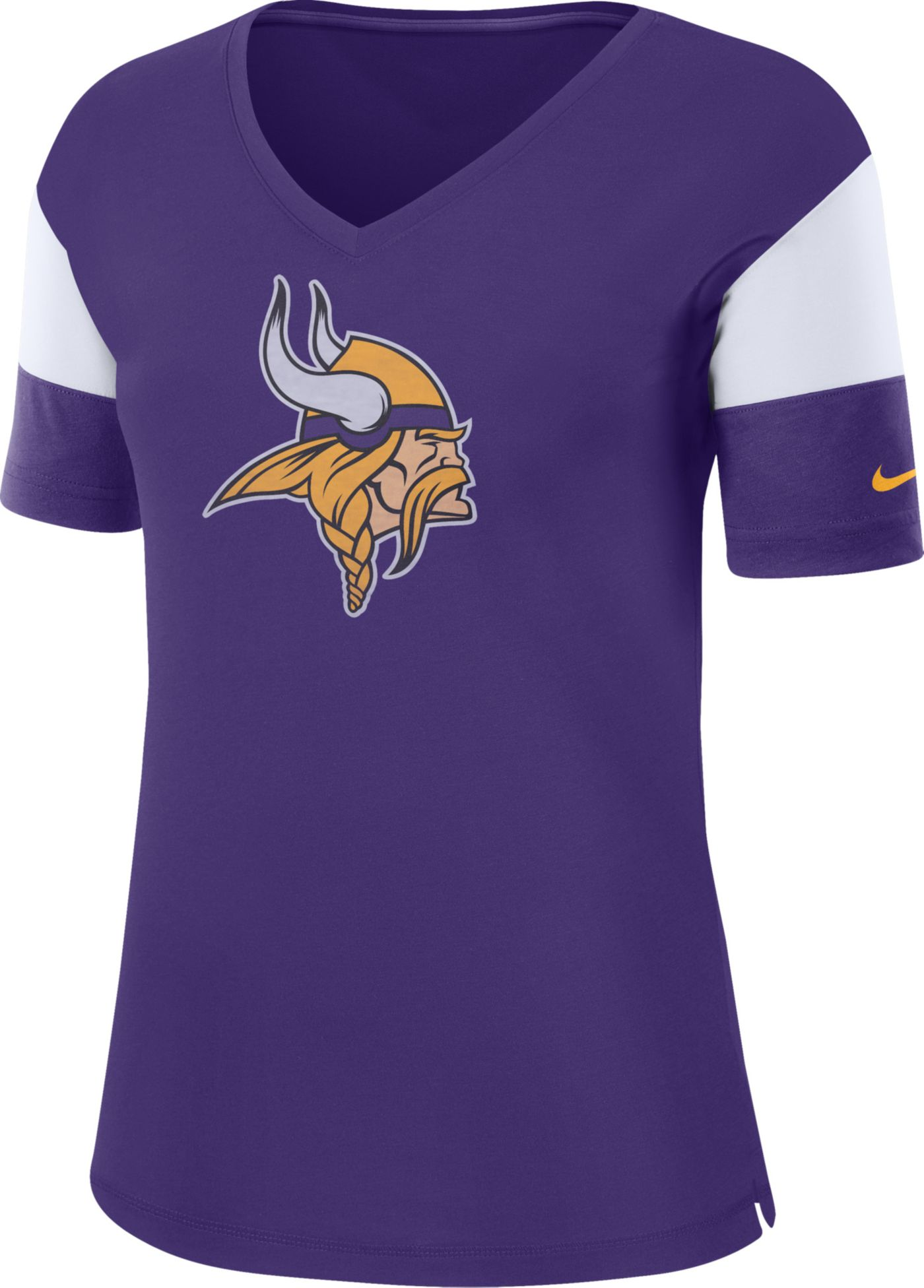 Nike Women's Minnesota Vikings Breathe Purple V-Neck T-Shirt