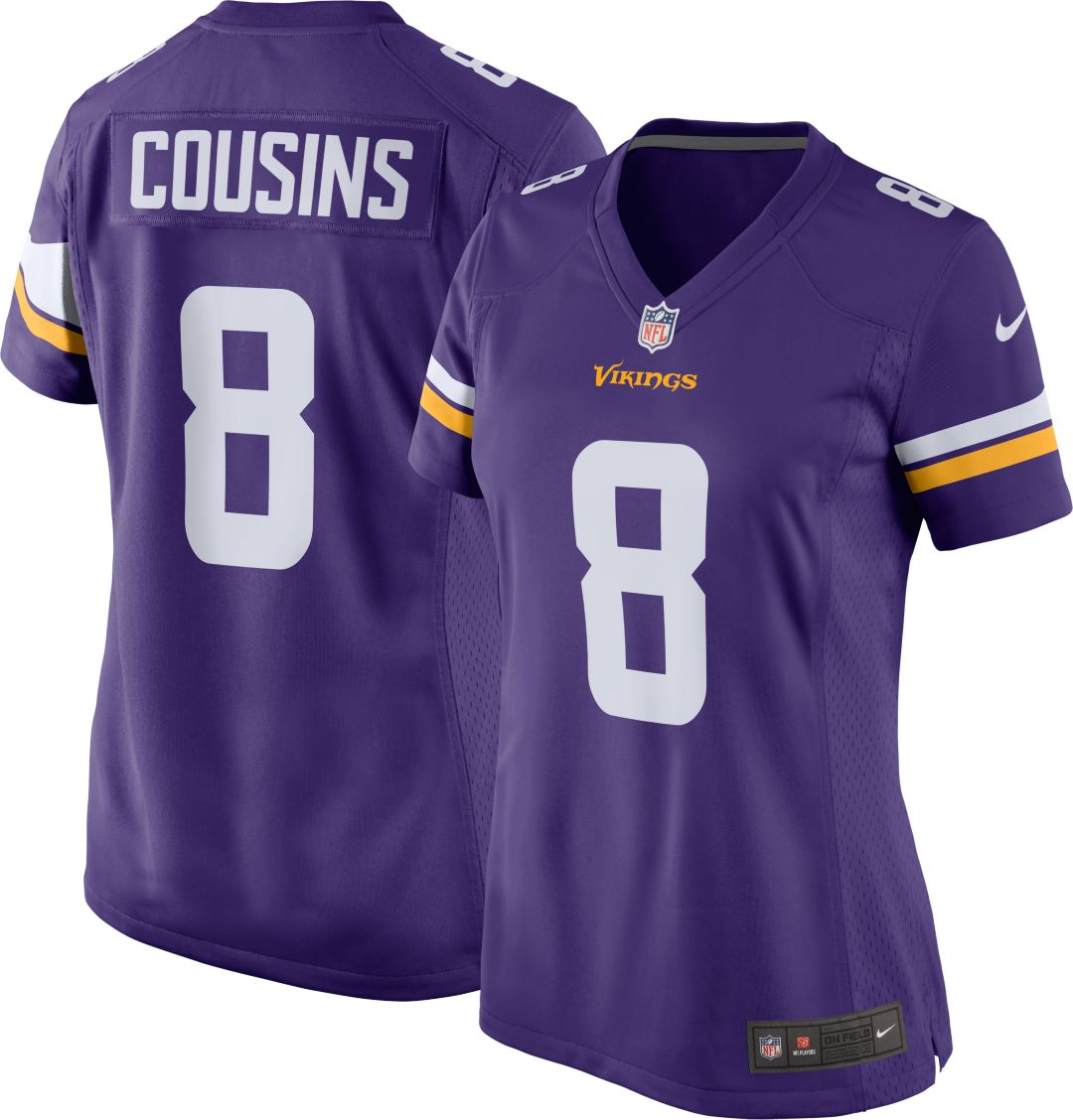 save off 638b5 2b945 Minnesota Vikings Kirk Cousins #8 Nike Women's Home Game Jersey
